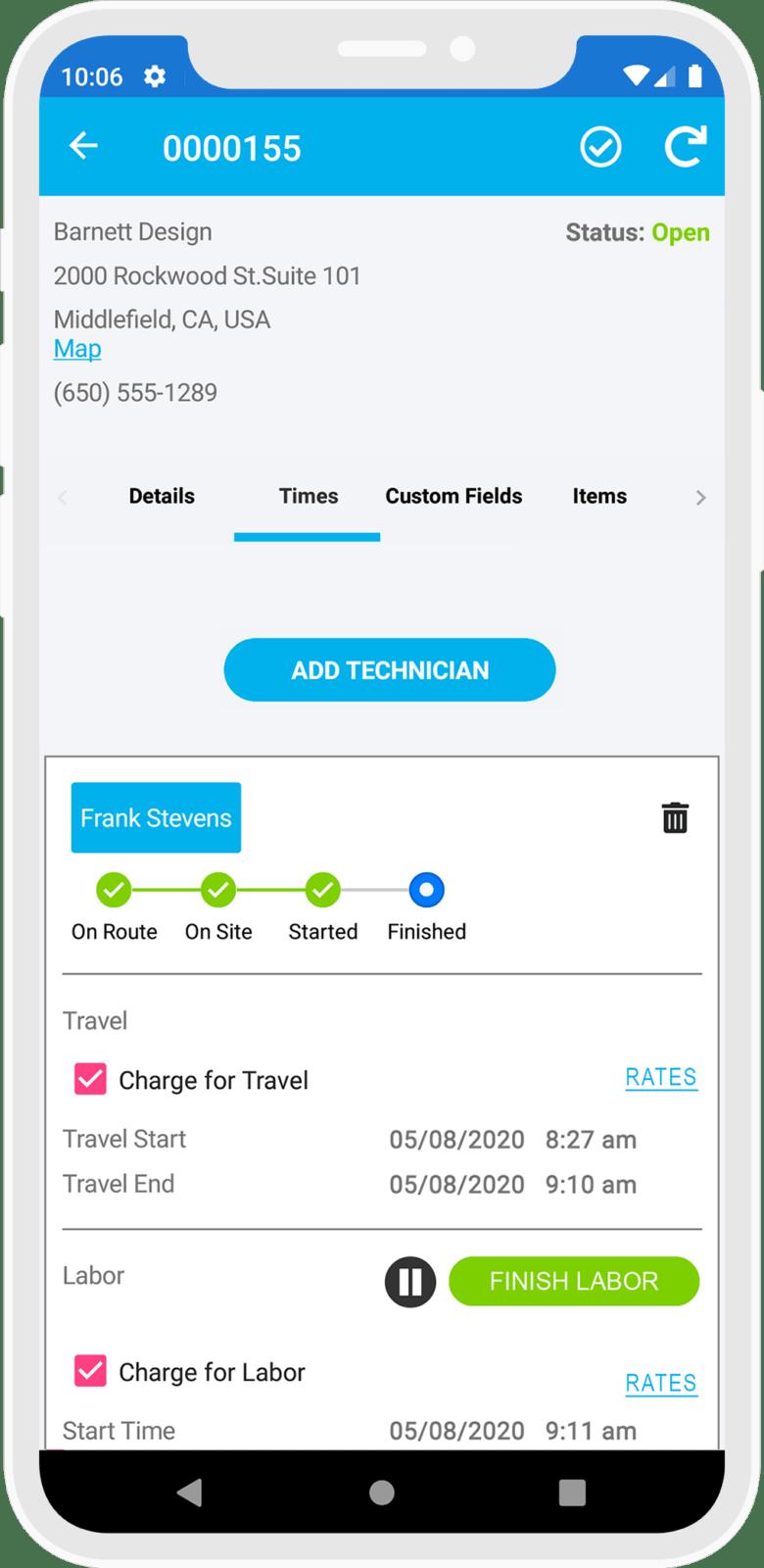 Job Screen Feature
